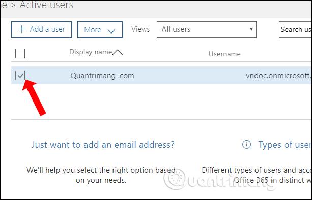 Chọn tài khoản Admin