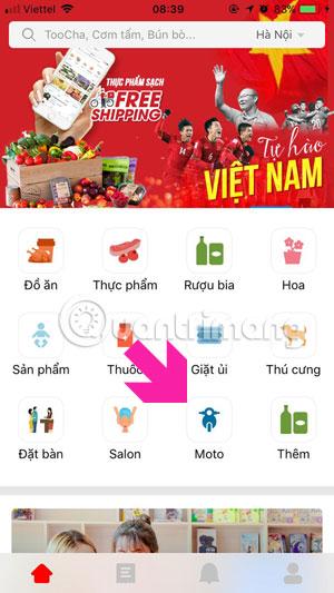 Giao diện chính Now.vn