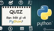 Bài kiểm tra trắc nghiệm về Python - Phần 1
