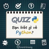 Bài kiểm tra trắc nghiệm về Python - Phần 2