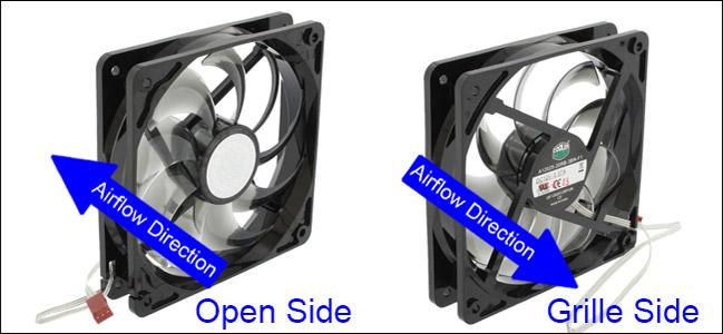 Luồng khí nên được lưu thông từ trước về sau và từ dưới lên trên
