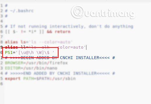 Cách xóa người dùng và tên máy chủ trong Terminal Prompt