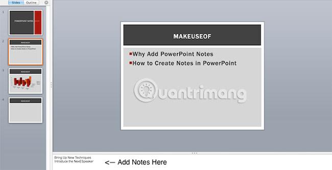 Cách thêm và in slide PowerPoint kèm ghi chú của người thuyết trình