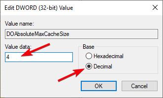 Nhập số lượng không gian lưu trữ mà bạn muốn phân bổ theo đơn vị GB