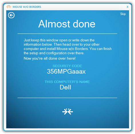 Nhập tên máy tính cùng với mã bảo mật mà bạn thấy xuất hiện máy tính thứ cấp