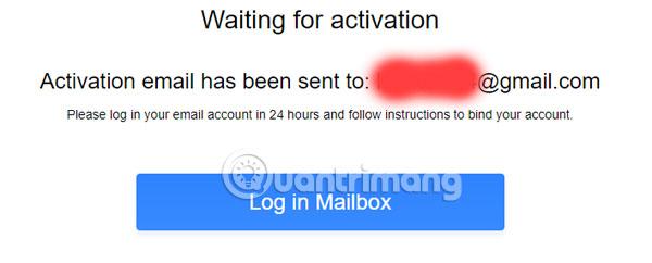 Thông báo active tài khoản QQ qua email
