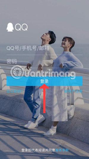 Giao diện đăng nhập QQ