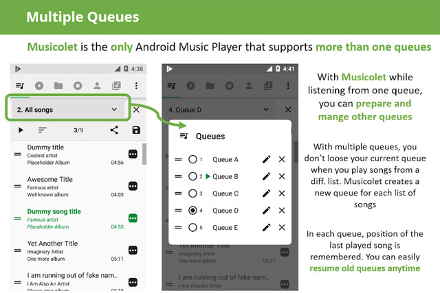 ứng dụng nghe nhạc miễn phí cho Android App Musiccolet Music Player