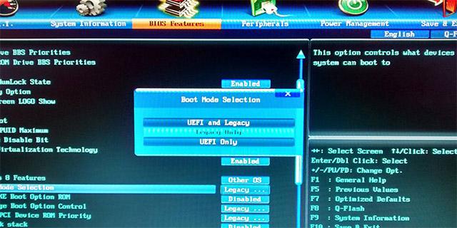 Chuyển đổi từ Legacy BIOS sang UEFI trong Windows 10