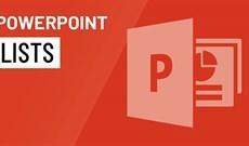 Làm việc với các danh sách trong PowerPoint 2016