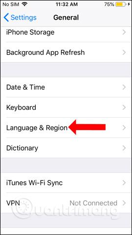 Ngôn ngữ trên iPhone