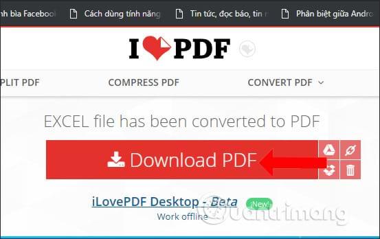 Tải file PDF trên ilovepdf