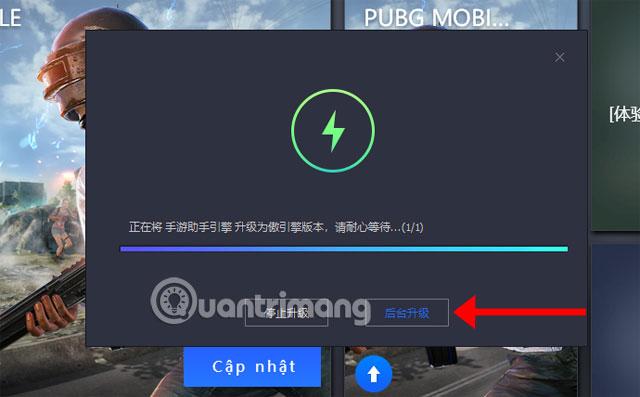 Đồng ý nâng cấp PUBG Mobile VNG Tencent Gaming Buddy