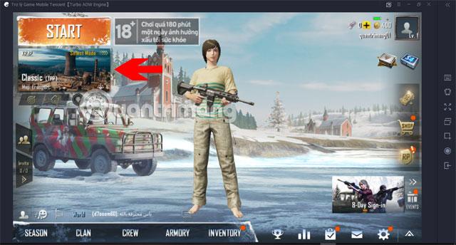 Chọn Map PUBG Mobile VNG Tencent Gaming Buddy