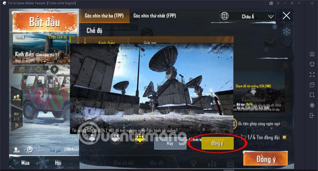 Đồng ý tải Map Vikendi PUBG Mobile VNG Tencent Gaming Buddy