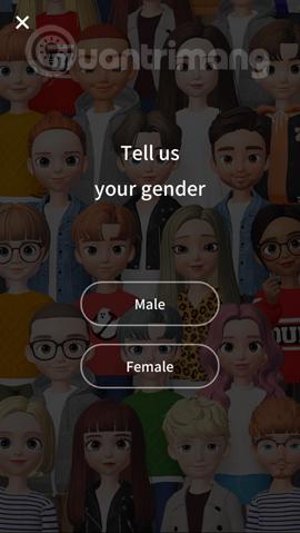 Chọn giới tính