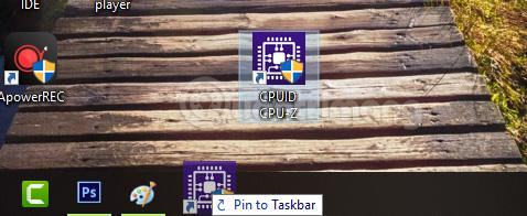 Kéo ứng dụng thả vào taskbar