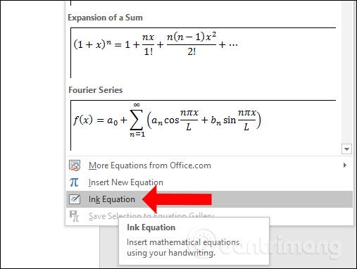 Công cụ Ink Equation