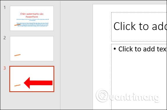 Watermarks ở các slide