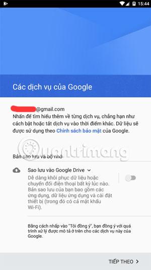 Sao lưu tài khoản Google
