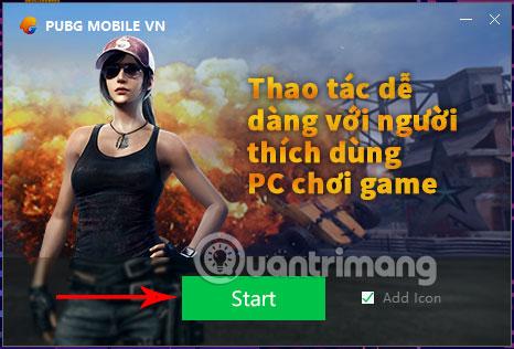 Khởi động Tencent Gaming Buddy