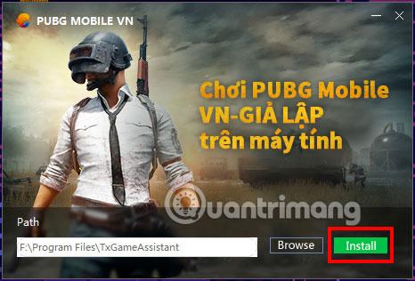 Chọn thư mục cài đặt PUBG Mobile VNG PC