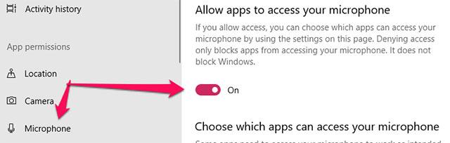 Sửa lỗi micro không hoạt động trong windows 10 - Quantrimang com