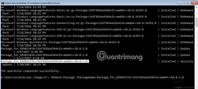Cách xóa các bản cập nhật khỏi Windows Recovery Environment (WinRE) - Ảnh minh hoạ 5