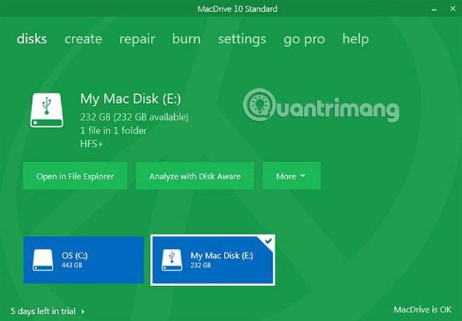 6 phương pháp đọc ổ đĩa Mac trong Windows