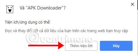 Tải tiện ích APK Downloader