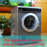 Trải nghiệm thực tế máy sấy quần áo Electrolux EDS7552S