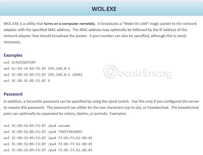 Các công cụ và phần mềm Wake On Lan tốt nhất - Quantrimang com