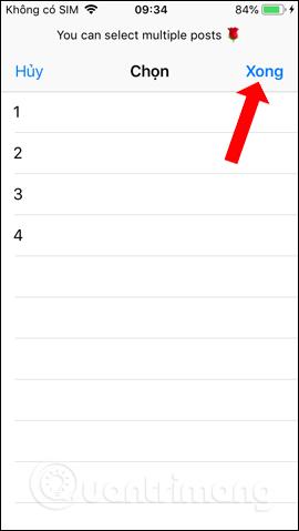 Danh sách chọn video