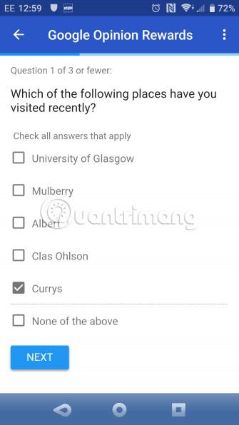 Nhận nhiều khảo sát