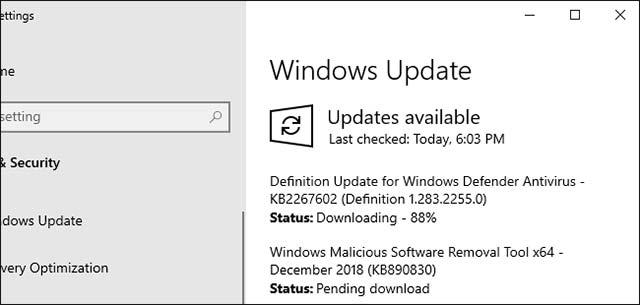 Sau khi bạn bật tùy chọn này, Windows 10 sẽ không tự động cài đặt bất kỳ bản cập nhật nào trong vòng 7 ngày.