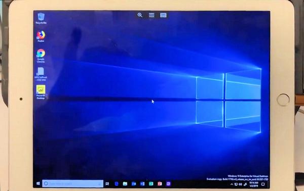 Biến iPad thành một chiếc máy tính chạy Windows 10 thực sự tương thích với chuột và bàn phím