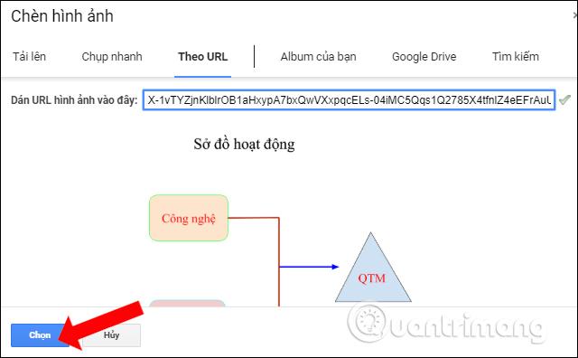 Nhập URL trên Google Sheets
