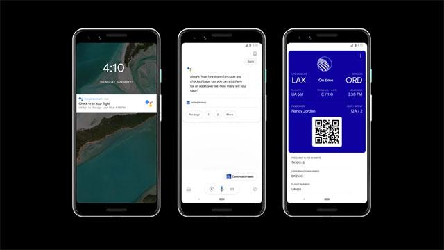 """Trước mỗi chuyến bay, Google Assistant sẽ gửi cho bạn lời nhắc hoặc bạn chỉ cần nói đơn giản là Hey Google, check in to my flight"""""""