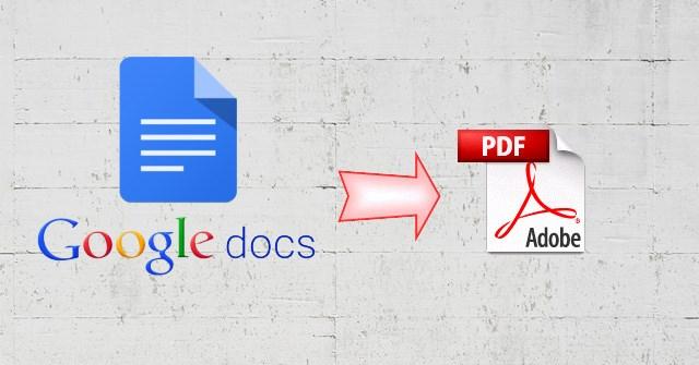 Cách chia sẻ link Google Docs thành PDF