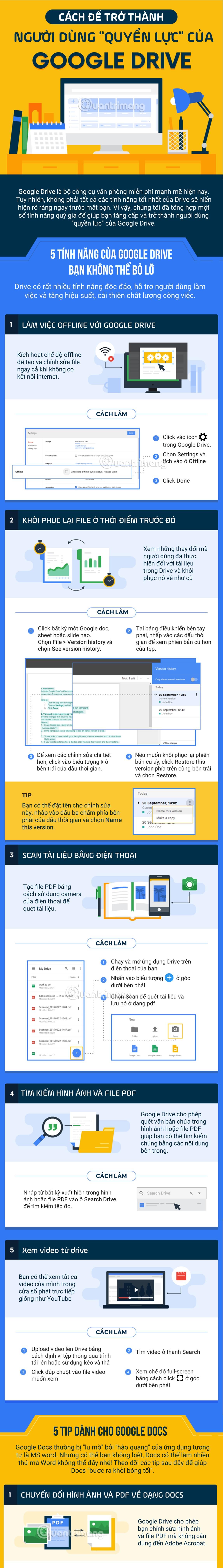 Google Drive là bộ công cụ văn phòng miễn phí mạnh mẽ hiện nay.