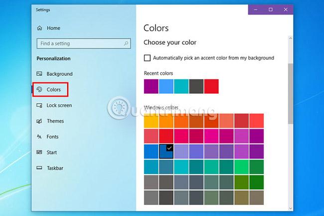 Thay đổi màu sắc