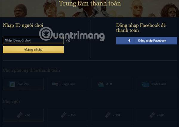 Đăng nhập tài khoản PUBG Mobile VNG