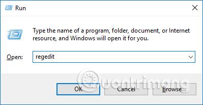 Truy cập Registry Editor