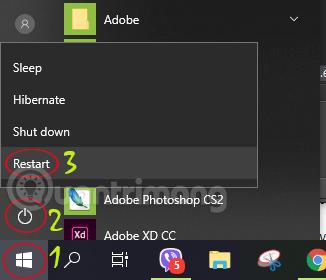 Khởi động lại Windows 8/8.1