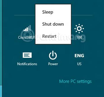 Khởi động lại Windows 7