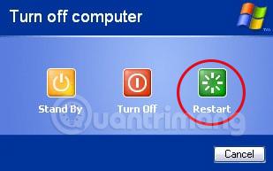 Khởi động lại Windows Vista