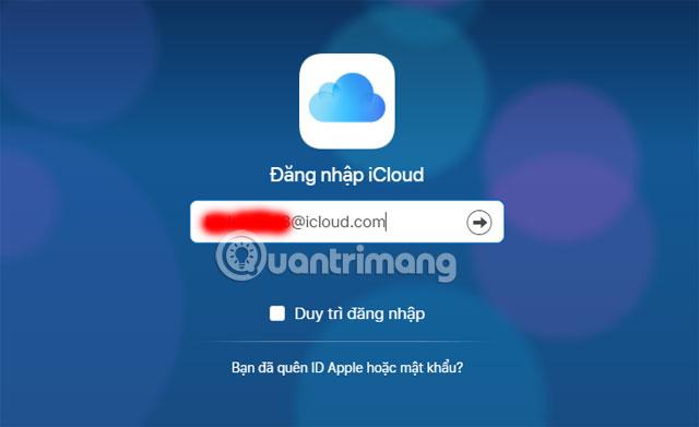 Đăng nhập iCloud