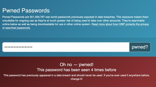 Nếu mật khẩu của bạn bị rò rỉ, thông báo này sẽ xuất hiện