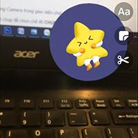 Cách chụp ảnh thêm sticker AR trên Messenger