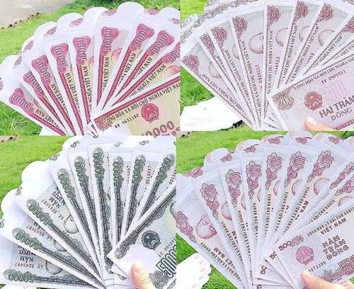 Bao lì xì in hình tờ tiền Việt Nam 1